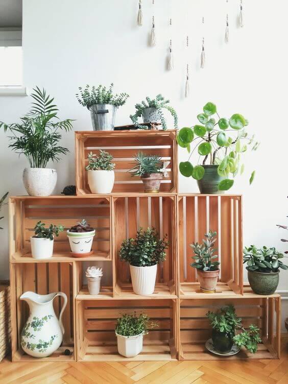 Arredare con le piante: mix verde su più livelli