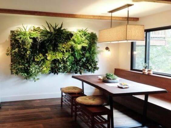 Arredare con le piante: parete verde verticale
