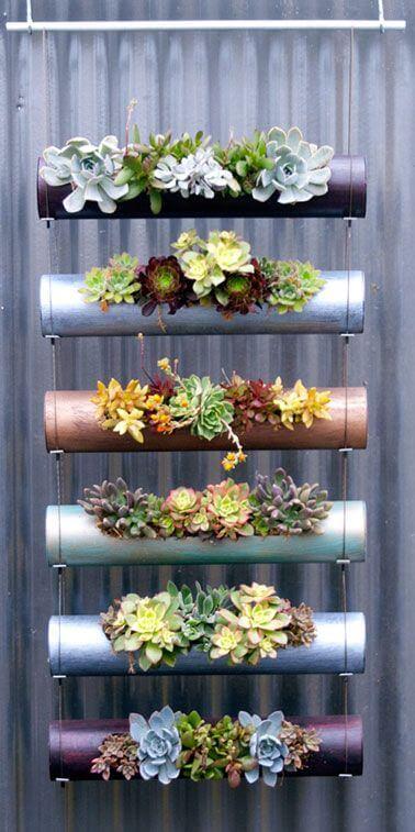 Arredare con le piante: design verticale fiori e piante grasse