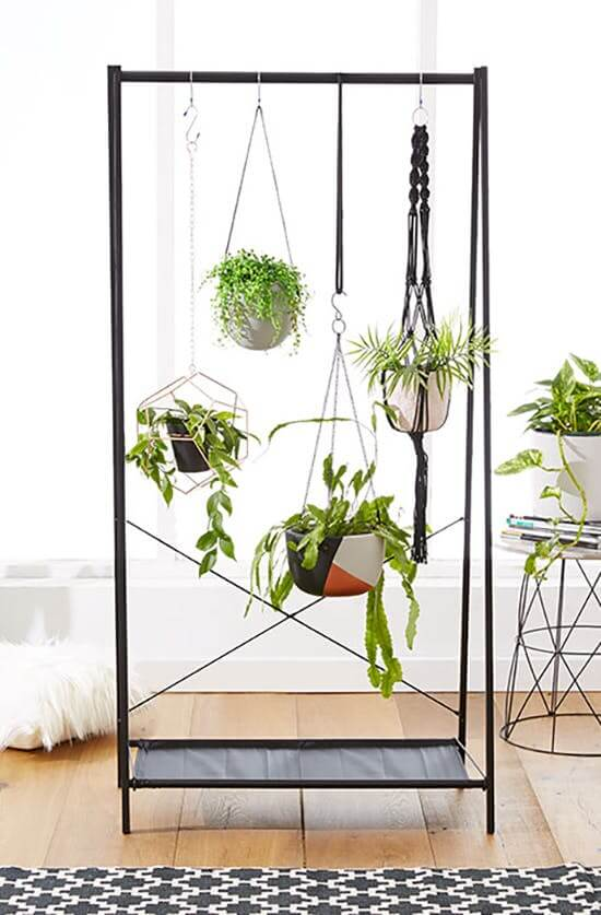 Arredare con le piante: appendiabiti green