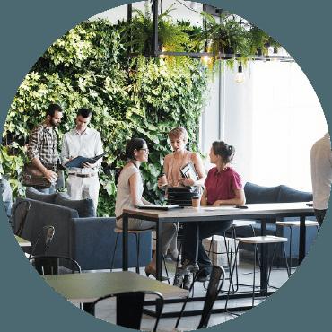 Migliorare i luoghi di lavoro e l'immagine aziendale con l'inserimento di spazi verdi